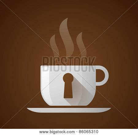 Coffee Cup With A Key Hole