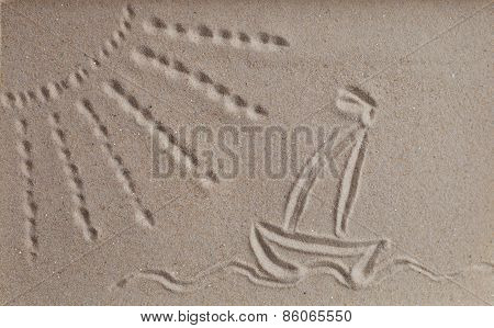 Beach Sand With Sun And Sea Picture