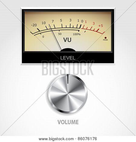 Volume Knob And Meter