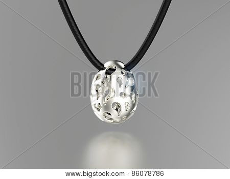 Pedant in egg shape with diamond. Jewelry background