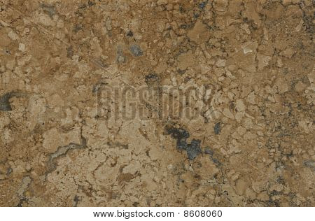 Surface Of The Travertine. Brown Shades.