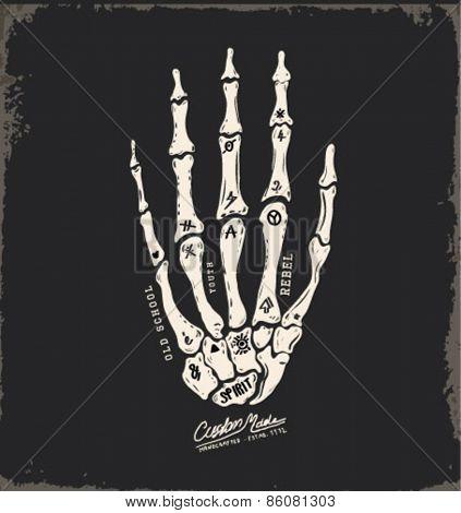 skull hand illustration