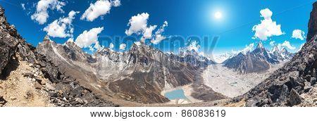Beautiful view from Gokyo Ri, Everest region, Nepal