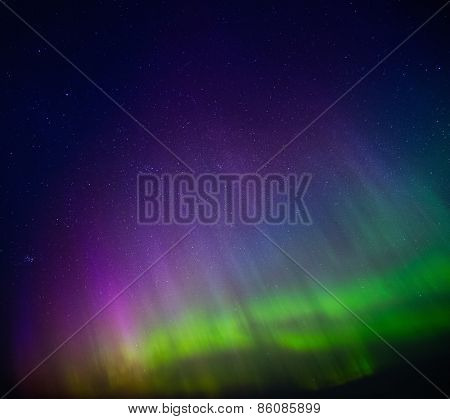 Beautiful Aurora Borealis in the sky