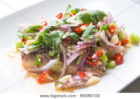 Sardine Spicy Salad Or Yum Sardine