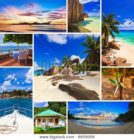 Collage Sommer Strand Bilder