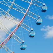 Tempozan Ferris Wheel in Osaka Prefecture, Japan poster