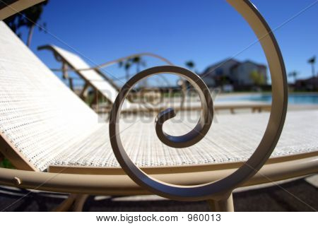 Lounge Chairs At The Pool