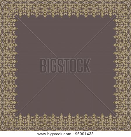 Floral Vector Quadratic Frame