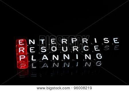 Erp Enterprise Resource Planning Black