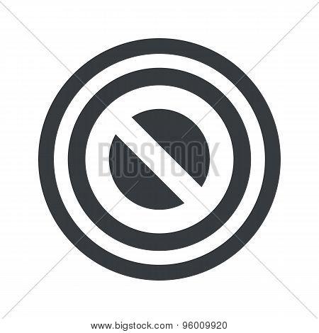 Round black NO sign