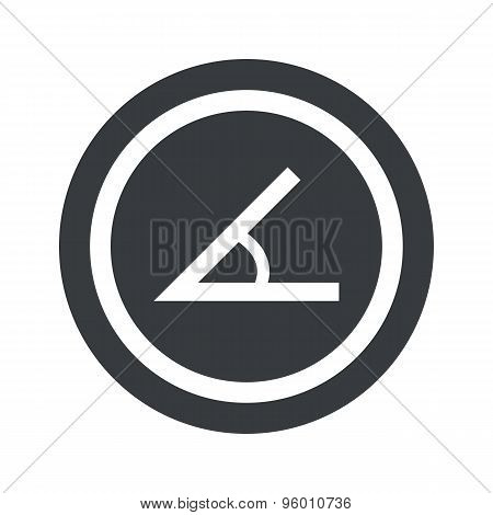 Round black angle sign