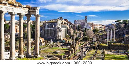 Great Rome - panoramic view of imperial forum