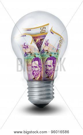 Colombian Peso Lightbulb