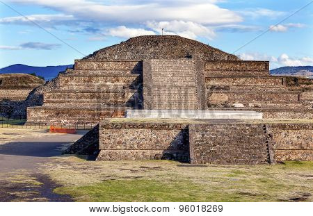Temple Of Quetzalcoatl Pyramid Teotihuacan Mexico City Mexico