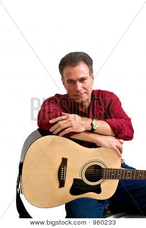Happy Man With Guitar