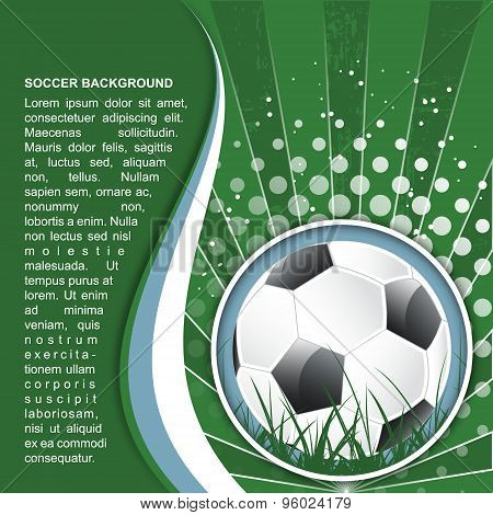 Soccer background in retro style, vector illustration