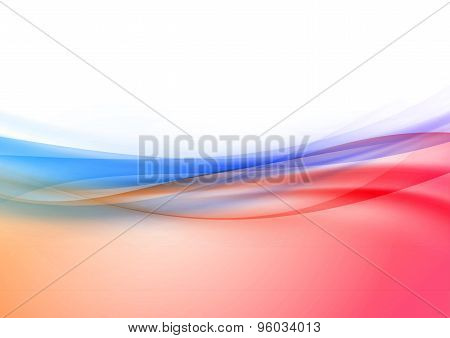 Transparent Swoosh Wave Border In Red And Blue