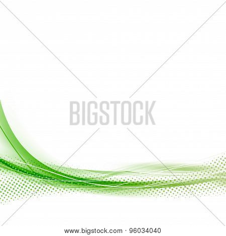 Green Speed Abstract Dotted Swoosh Line Wave