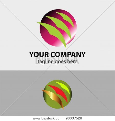 Bird sign with circle icon design template