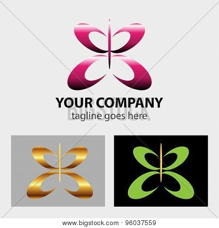 Butterfly logo icon vector design illustration template.