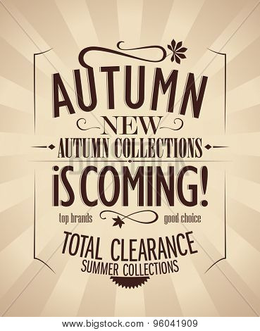 New autumn collections design in retro style.
