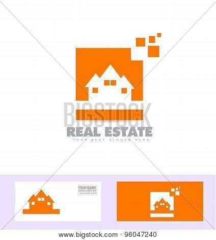 Real Estate House Logo Icon Set