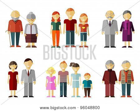 Vector set of flat family