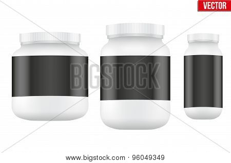 Mockup Sport Nutrition Container. Whey Protein and Gainer.