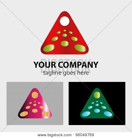Abstract Business triangle logo vector illustration template