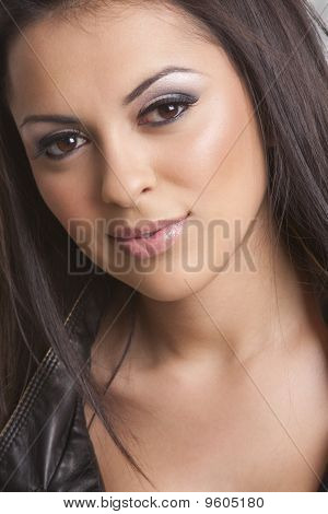 a beautiful young hispanic woman.