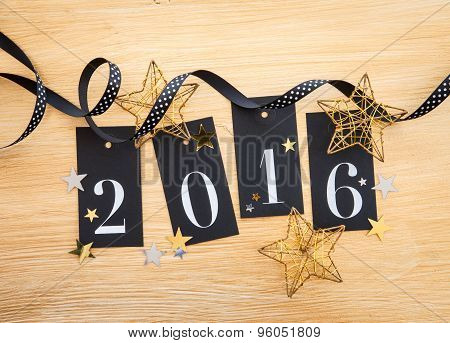 2016 With Glittery Decoration