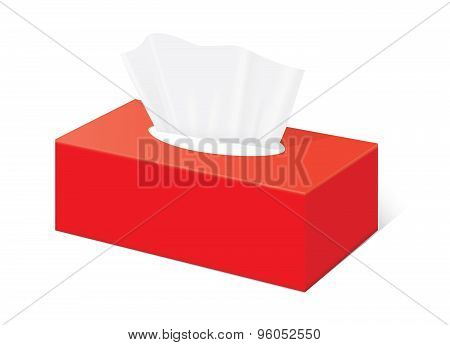Red tissue box mock up