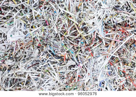 Stack Of Scrap Paper From Paper Cutter For Background