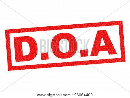 D.o.a Rubber Stamp