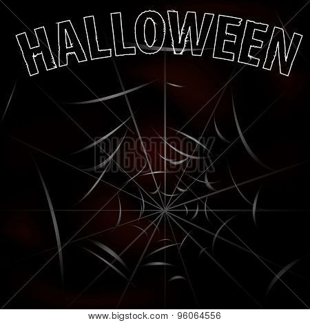 Background With Spiders And Web  Halloween