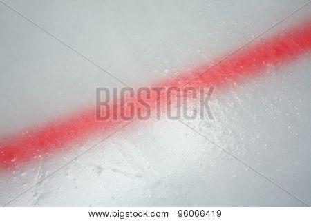 Ice Hockey Rink Red Line