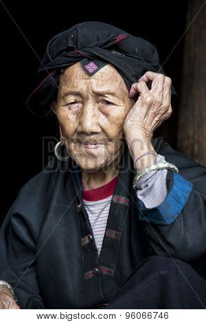 96 Year Old Woman From The Hong Yao Ethnic Tribe
