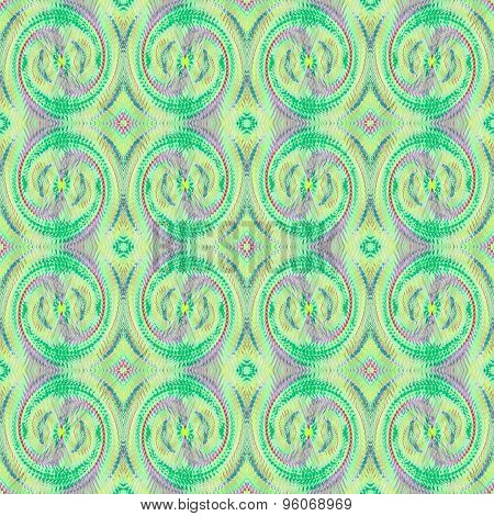 Seamless spiral pattern green purple