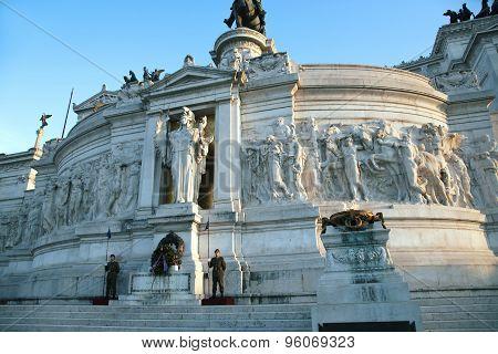 The Monumento Nazionale a Vittorio Emanuele II