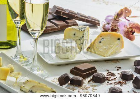 Cheese, Chocolates, Wine