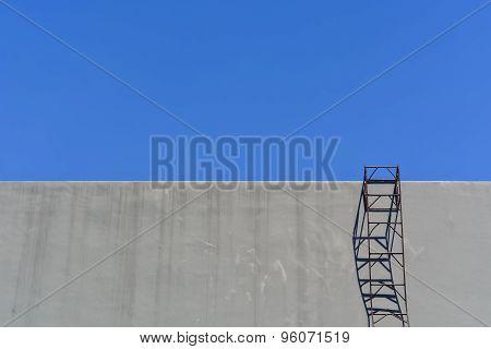 Steel Ladder On Wall
