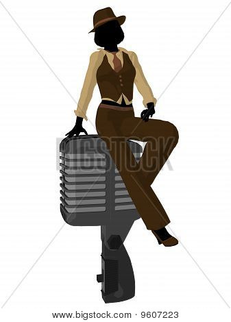 Female Jazz Musician Illustration