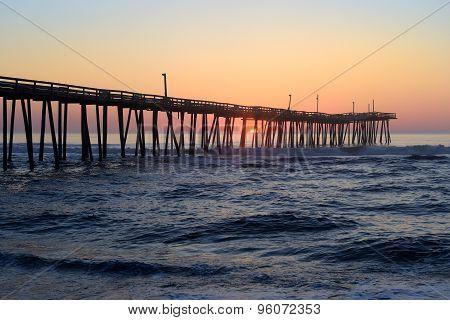 Rodanthe Fishing Pier at Sunrise in North Carolina