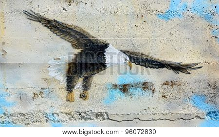 Mural bald eagle
