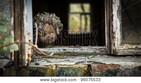 Chernobyl - Doll Looks Out A Window