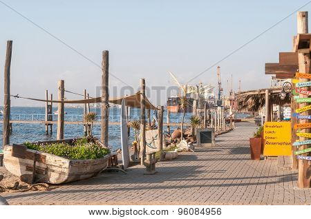 View Of The Waterfront In Walvis Bay