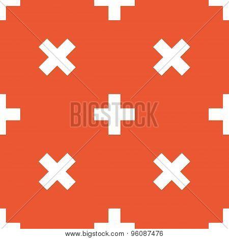 Orange plus pattern