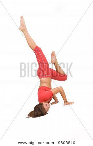 Girl Doing Fitness Excersises