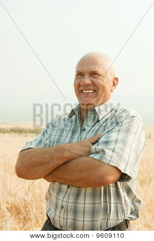 Happy Senior Farmer